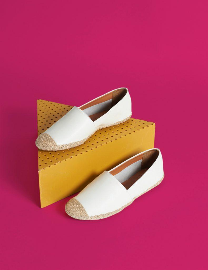 Via Mia: sapatilha branca